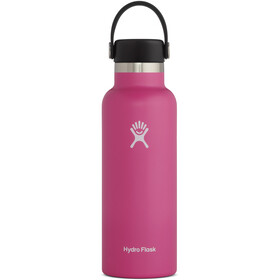 Hydro Flask Standard Mouth Bidón con Tapa Estándar Flex 532ml, rosa